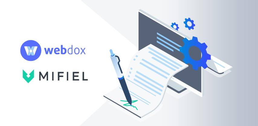 Firma electrónica avanzada con Mifiel llegó a Webdox